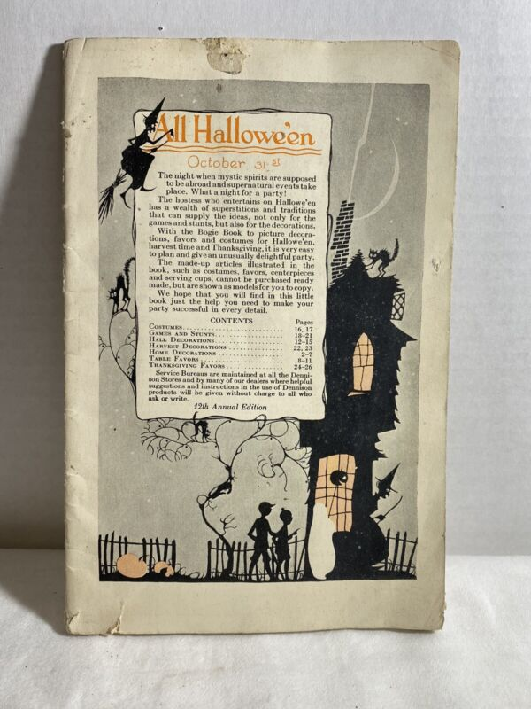 Antique 1920s All Halloween Party Planning Booklet