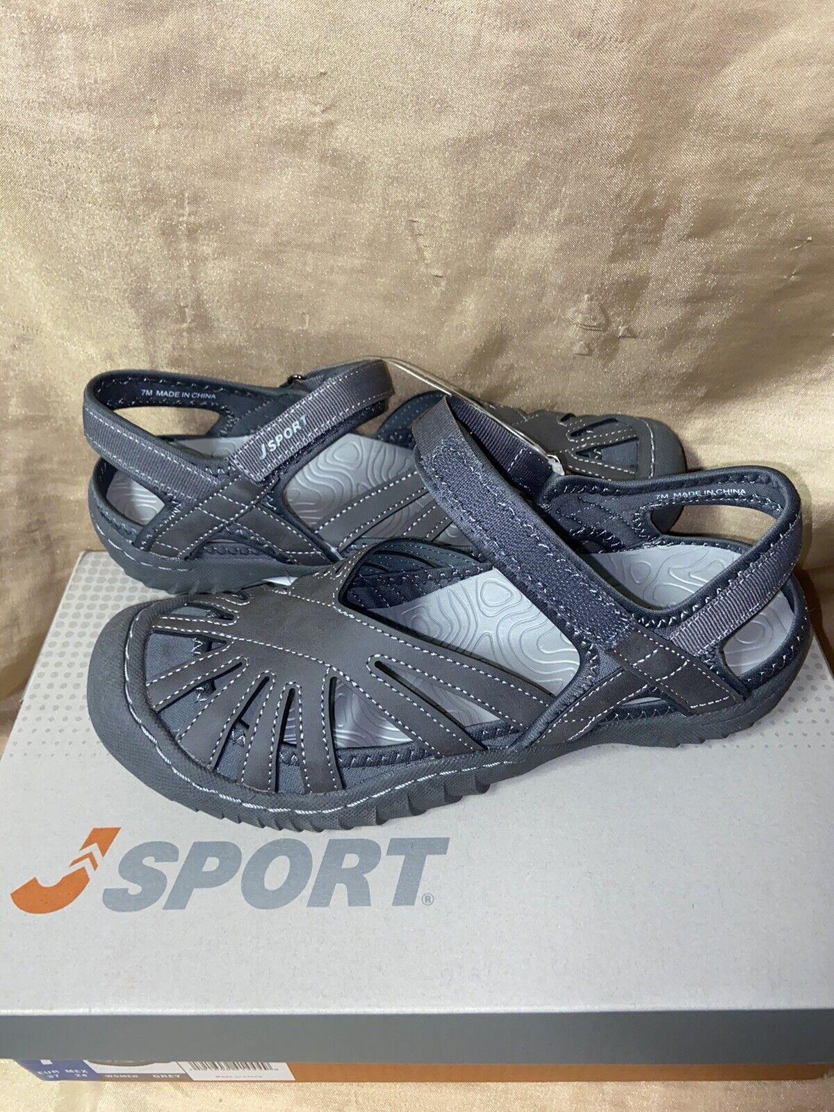 New! Jambu JSport Poppy grey Womens size 8 walking strap san