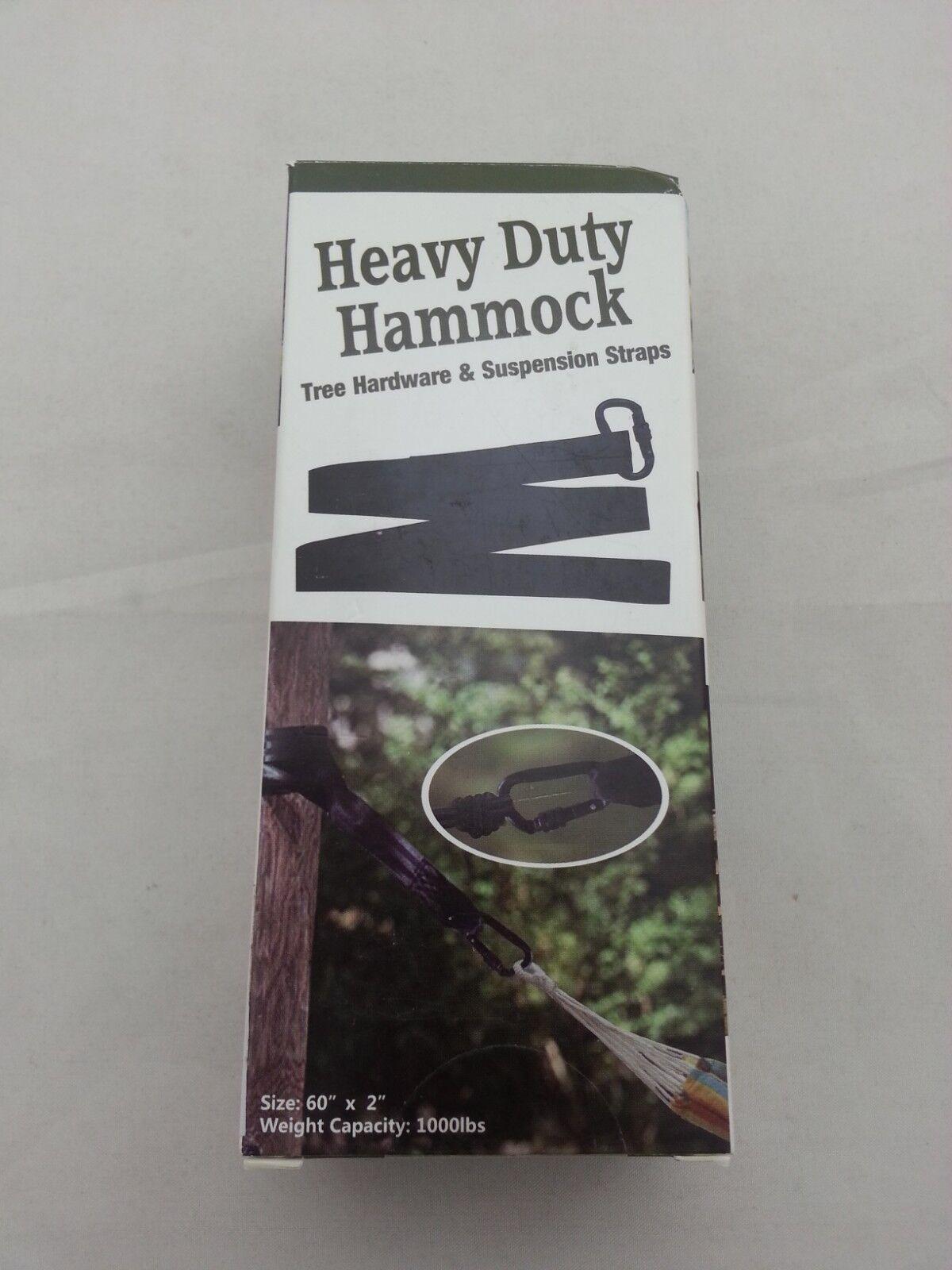 Heavy Duty Hammock Tree Hardware & Suspension Strap - Single