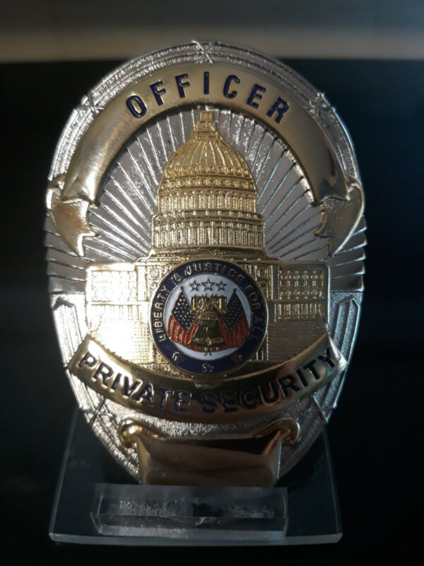 Very nice officer oval SHIELD made by badger BADGE full size