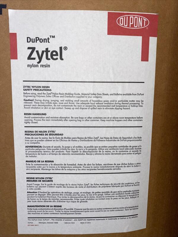 10 LB NYLON RESIN DUPONT Zytel® 70G33L BK031  Injection Molding Pellets Weighted