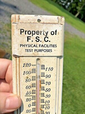 Vintage Old Fairmont State college advertising Thermometer/sign