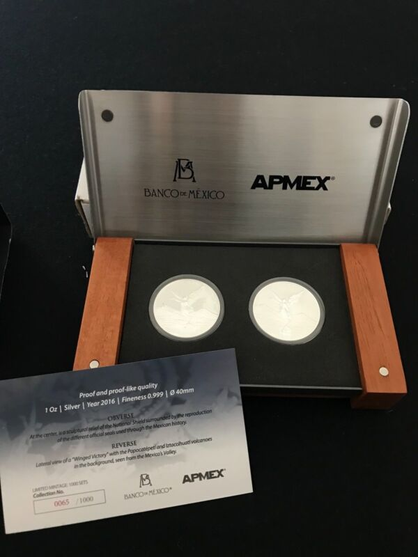 2016 Mexico 2-Coin Silver Libertad Proof/Reverse Proof Set