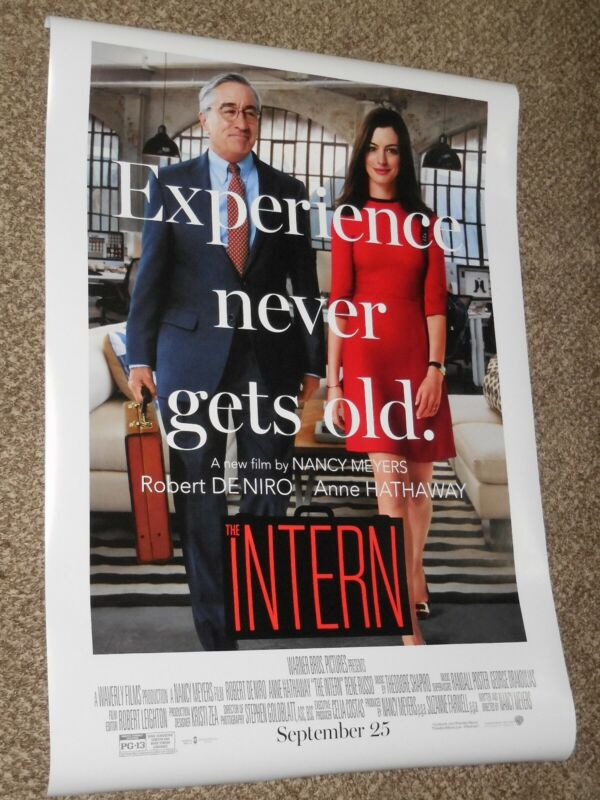 THE INTERN ex 27x40 ORIGINAL D/S MOVIE POSTER