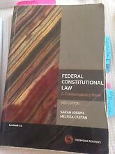 Federal constitutional law: a contemporary view Werribee Wyndham Area Preview