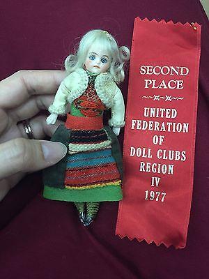 "Antique All Original Simon Halbig? 5.5"" Mystery Mignonette Dollhouse Doll"