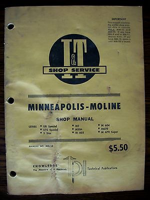 Mm Minneapolis Moline Ub Uts 5 Star M5 M504 M602 M604 M670 Service Manual