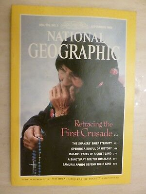 National Geographic- RETRACING THE FIRST CRUSADE - SEPTEMBER 1989