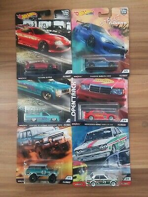 2020 Hot Wheels Premium Car Culture Mixed Chase Lot of 6 Supra Datsun 510 Brz +
