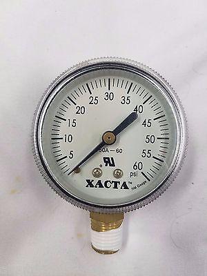 Co2 Pressure Replacement Guage - Xacta Pressure - Gauge 60 Psi - Brand New