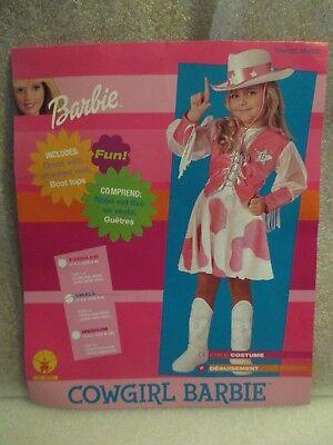 Rubie's Girls Halloween Costume Barbie Pink Cowgirl Dress Size Small 4-6