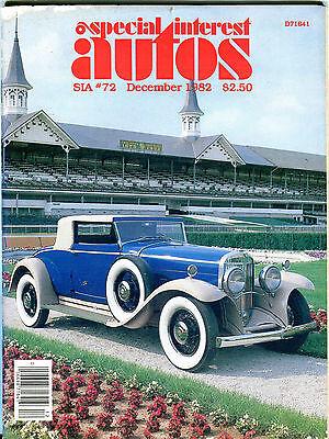 Special Interest Autos Magazine December 1982 Vg 061716Jhe