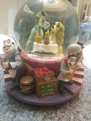 Disney Lady and the Tramp Musical Snowglobe