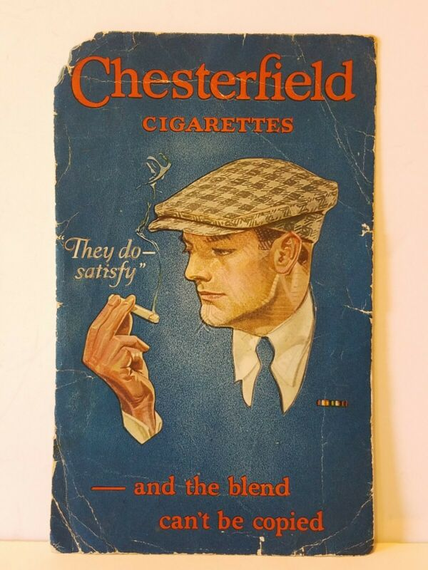LARGE Vintage CHESTERFIELD CIGARETTES They Do Satisy ADVERTISING INK BLOTTER L2