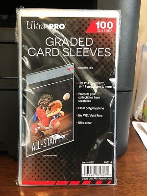 Ultra Pro Graded Card Sleeves 10 Packs of 100 for PSA Beckett Graded Cards