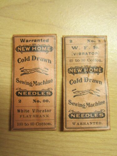4 White, AG Mason 20x1 Treadle Sewing Machine Needles, Asst Sizes