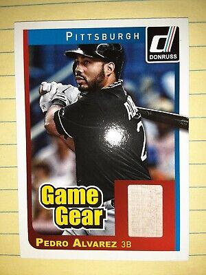 Pedro Alvarez Pittsburgh Pirate Donruss Game Gear Bat Relic Baseball Card