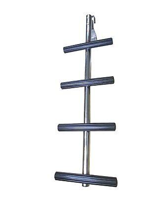 Pactrade Marine Boat 4 Steps Transom Sport Dive Ladder SS 304 Non Slip Thread