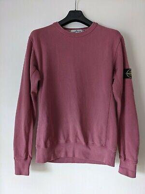 Men's Stone Island Crew Neck Sweater: L, Dusty pink