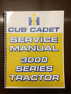 International Harvester Cub Cadet 3000 Series Tractor Service Manual Overhaul