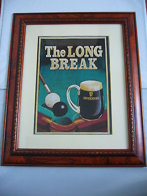 GUINNESS POSTER ADVERTISING - THE LONG BREAK