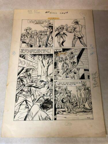 WILD BILL HICKOK original art Classics Illustrated #121 western 1954 GUN BATTLE