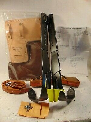 New Buckingham Adjustable Steel Poletree Climbing Spikesgaffs Kit