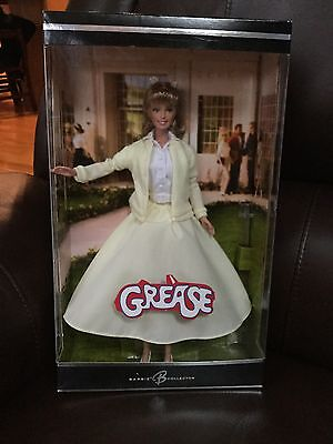 "Mattel ""Grease"" Sandy Barbie Doll ~Olivia Newton John~Yellow Skirt & Sweater~New"