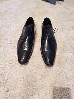 P. Project Men's Black Leather Shoes Size 45