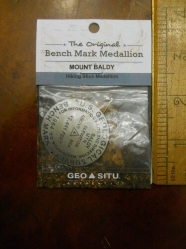 PHILMONT MOUNT BALDY BENCHMARK HIKING STAFF MEDALLION (NEW IN PACKAGE)