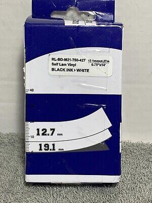 Compatible For Brady Bmp21-plus - M21-750-427-wt Label Tape Black On White 34