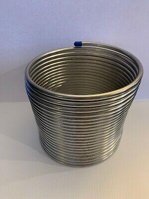 50 Stainless Steel Jockey Box Coil. 38 Od. New