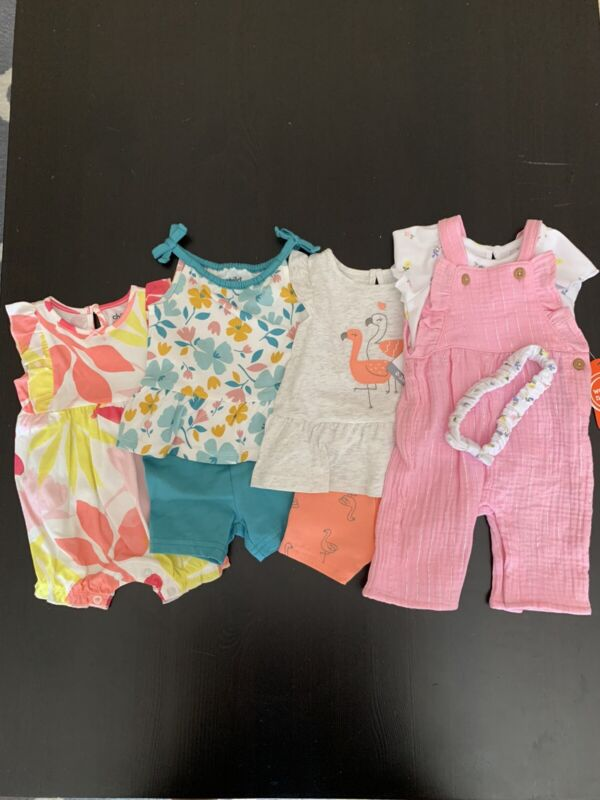 Lot Of Baby Girl Clothes. Size 0-3 Months. Nwt!