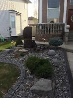 Landscaping and lawn removal and replacement and concrete work