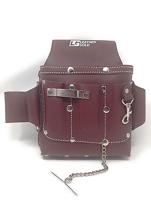 Leather Gold Standard Electricians Tool Pouch Browntanned Cow Leather