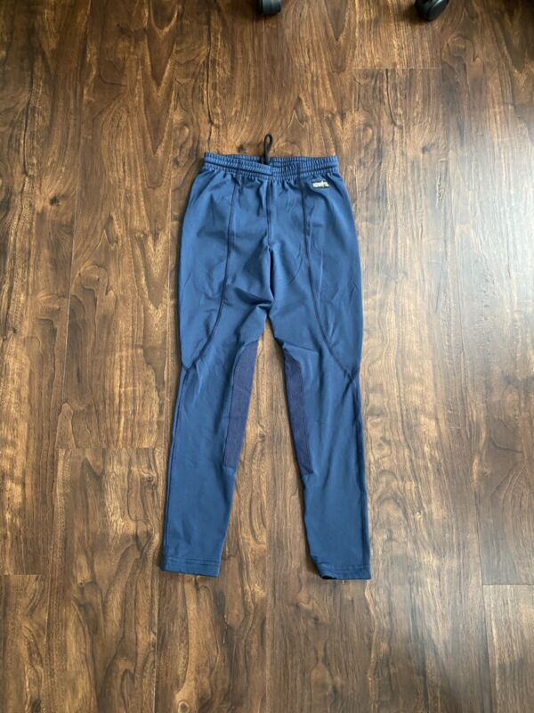 Kerrits Kids Knee Patch Performance Tight Riding BreechesNavy Blue Size Large