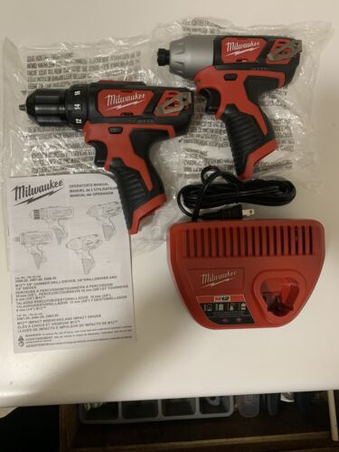 Milwaukee M12 3/8 In. Drill Driver And 1/4 In. Hex Impact Driver With Charger  - $66.00