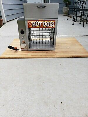 Apw Wyott Rotating Hot Dog Broiler With Bun Warmer Commercial Dr-2a