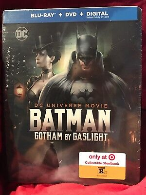 TARGET STEELBOOK DC UNIVERSE MOVIE BATMAN GOTHAM BY GASLIGHT BLU RAY DVD
