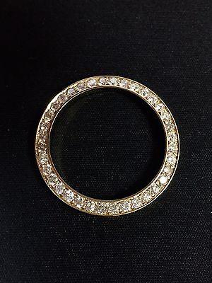 Rolex Lady Datejust 26mm 14k Solid Yellow Gold 1.2 Carat Diamond Bezel