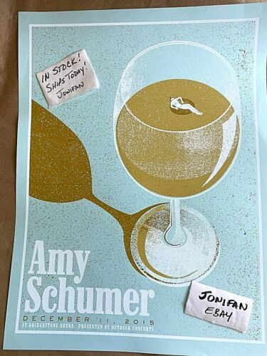 RARE! AMY SCHUMER Bridgestone Nashville TN 2015 Original Screen Print Poster