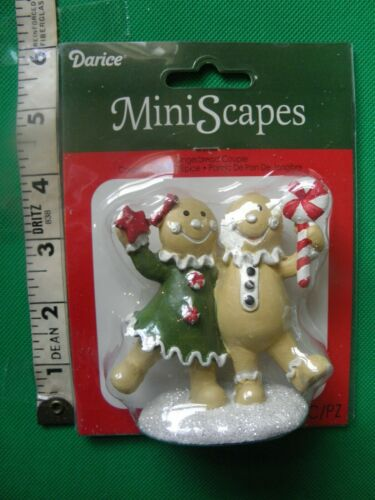 "Darice MiniScapes ~ Gingerbread Couple ~ Christmas Figurine ~ Approx 3.50"" Tall"