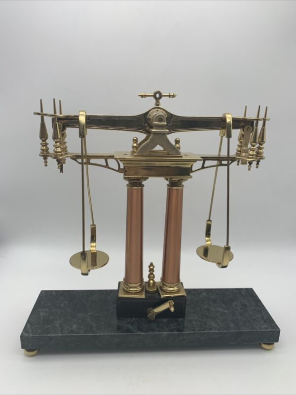 Vintage Gold Rush Balance Scale by Franklin Mint Decoration Only Read