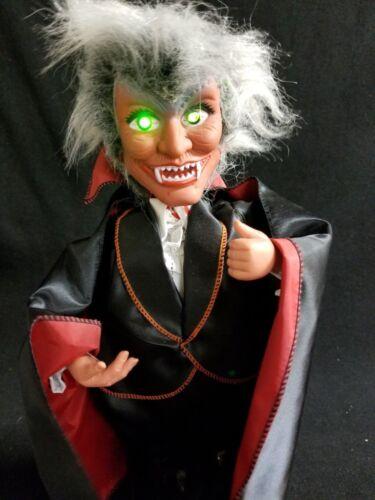 Halloween Animated Vampire Dracula Electronic Eerie Sounds & Blinking Lights