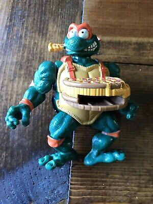 """1993 TMNT Mikey/Michelangelo Pizza Tossing 5"""" Action Figure by Playmate Toys"""