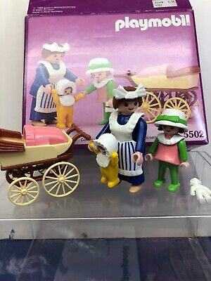 Playmobil 1989 Victorian Mansion Nanny Baby Child Pram 5502 W/ Box for sale  Shipping to India