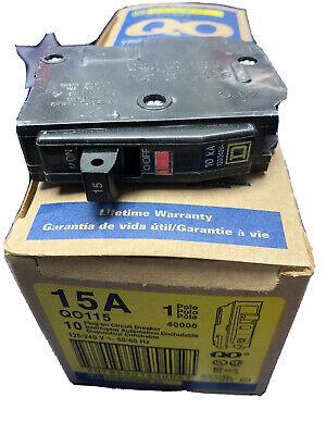 1 Box 10 Square D Qo Breaker 120 Volt 15 Amp Qo115