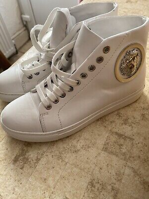 Versace Versus Metal Lion Head Mid Top White Size 4 UK/EU37