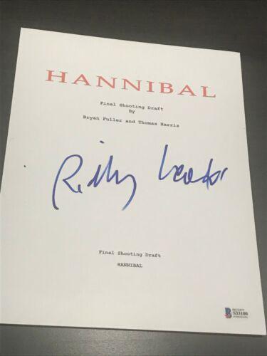 RIDLEY SCOTT SIGNED AUTOGRAPH HANNIBAL MOVIE SCRIPT IN PERSON BECKETT BAS COA D