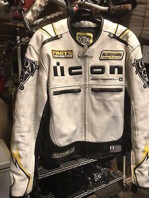 Icon Crest Leather Jacket Xl